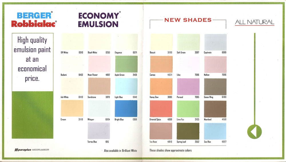 Asian paints shade cards