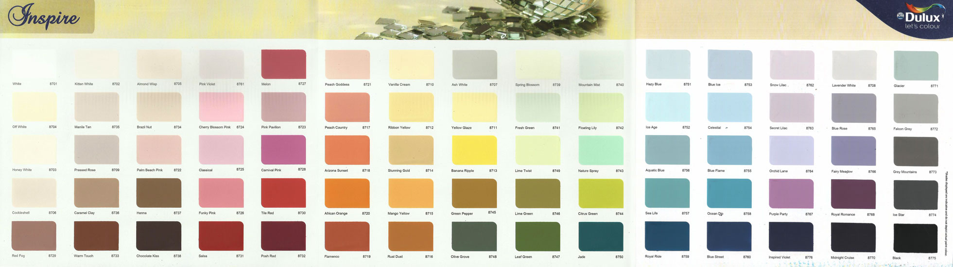 Asian paint shade card