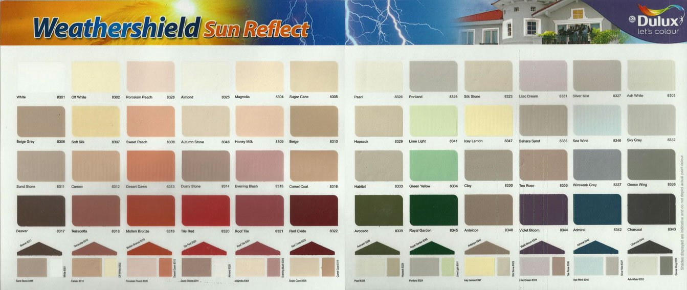 dulux interior paint colour charts
